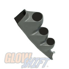 GlowShift Gray Triple Gauge 52mm Pillar Pod for 00-06 Chevy Silverado Duramax