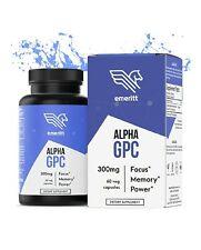 Emeritt Alpha GPC Premium Choline Supplement Brain Nootropic, Focus Memory Power