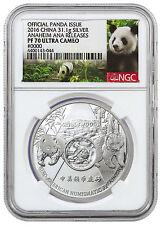 2016 China 1 oz Silver Official Issue Anaheim ANA NGC PF70 Panda Label SKU42641