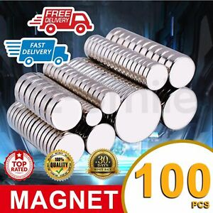 100x Super Strong Round Disc Magnets Rare-Earth Neodymium Magnet Cuboid Cylinder