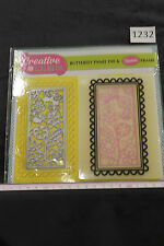 NEW Creative Dies Flower themed die and embossing folder set, Exc Cond