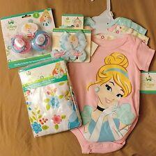 Disney Princess Cinderella Baby Gift Set Pacifiers Crib Sheet Headband Bodysuits
