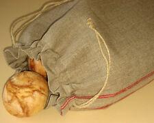 "Handmade Natural Linen Bread Bag. Food storage bags. Reusable linen bag 13""x17"""