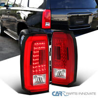 For 15-18 Chevy Tahoe Suburban Red/Clear LED Rear Tail Lights Rear Brake Lamps