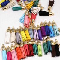 Wholesale 30x Velvet Leather Tassel For Keychain Jewelry DIY Pendant Findings