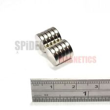 10 Very Strong Neodymium Disc Magnets 10x2 mm N52 magnet disk 10mm dia x 2mm