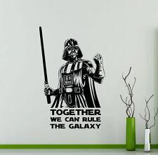 Darth Vader Wall Decal Star Wars Quotes Vinyl Sticker Kids Art Decor Mural 24sw