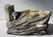 SKUNK in a Tree Planter Ceramic Plant Vase-Lugenes Japan Trinket Holder-Vintage