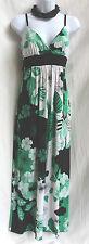 TRIXXI Floral Long Jersey Dress Sz M Maxi Stretch Casual Sundress Built in Bra