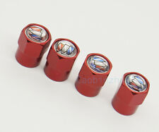4x Red Car Auto Accessories Wheel Cover Tire Valve Stem Caps Logo for Buick