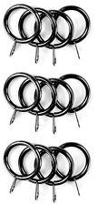 Black Nickel Metal Curtain Rings For 19mm Diameter Pole - Packs of 12