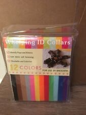 Set Of 12 Colorful Pet Dog Puppy ID Collar - Whelping identification brand
