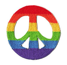 écusson patche Peace and Love symbole thermo thermocollant brodé badge patch