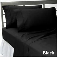 Top Class Bedding Items 1000TC Egyptian Cotton All UK Sizes Black Solid
