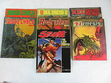 Lot of 7 TITAN BOOKS Graphic Novels JUDGE CHILD-DREDD-NEMESIS-RO BUSTERS-STORM