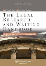 The Legal Research and Writing Handbook: A Basic Approach for Paralegals, Sixth