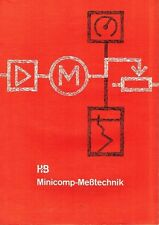 Hartmann e Marrone AG, Frankfurt prospetto minicomp metrologia 1960