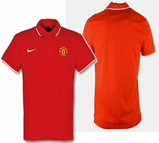 NIKE MANCHESTER UNITED TRAVEL POLO SHIRT Red/White