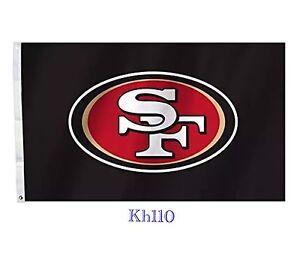 NFL San Francisco 49ers 3x5 Flag - Black Color