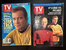 2-Star Trek Tv Guide, William Shatner's Memories, Kirk vs Picard