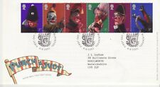 GB Stamps First Day Cover Punch and Judy Show Puppets SHS Bucket & Spade 2001