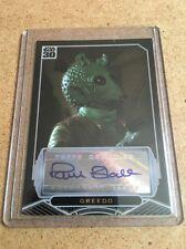 Rare - Star Wars 30th Anniversary - Paul Blake - Greedo - Autograph Card -Topps