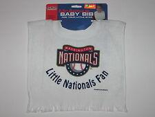 Washington Nationals Terry Velour Pullover Towel Baby Bib