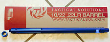 "Tactical Solutions X-Ring 10/22 Blue 16"" Fluted Threaded Barrel 1022 THD-06"