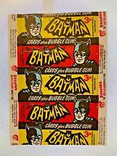 More details for 1966 a&bc batman 3d series a & b 'cards plus bubble gum' variant wax wrapper