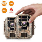 2Pack Mini Trail Camera 16MP 1080P Wildlife Scouting Hunting Cam Night Vision US