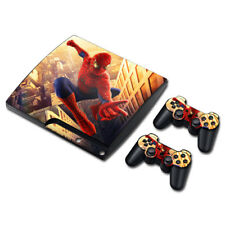 The Amazing Spider-Man Skin For SONY PS3 SLIM Console Controller Decal Sticker