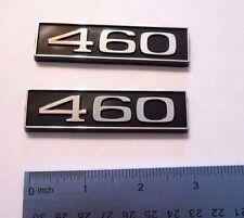 460 black plastic with chrome emblem emblems badge new