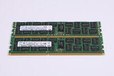 16gb 2x SAMSUNG 8GB 2R PC3 - 10600R-09-10-E1-P1 DDR3 Memory ECC