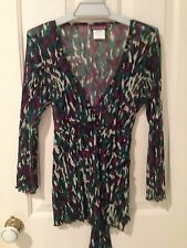 Beautiful Suzanne Grae Sheer Top Blouse Overshirt Size S Multicolour