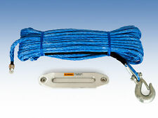 100ft Synthetic Winch Rope, Hook & Hawse