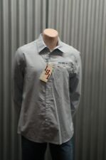 191 Unlimited Baby Blue Military Button-Up NWT XL
