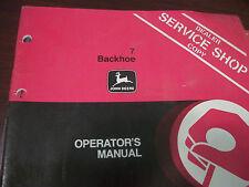 John Deere Tractor Operator'S Manual 7 Backhoe Issue J3