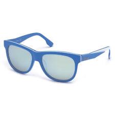Gafas de sol de hombre de espejo azules rectangular