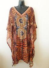 Printed Kaftan top tunic dress with elastic waist New size small