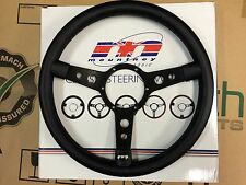 Land Rover Mountney Traditional Leather Steering Wheel with Black Centre 15""