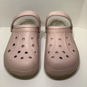 Crocs Classic Clog - Pink - M/6 - W/8 Fur Lined! Free Shipping!