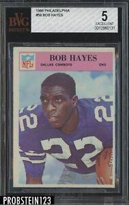 1966 Philadelphia #58 Bob Hayes Cowboys RC HOF BVG 5