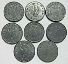 New listing Germany. Third Reich. Lot Of 8 Coins. All 1 Pfennig Zinc Coins. See Pics.