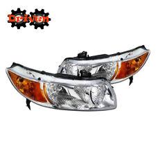 06-11 Honda Civic 2dr FA FG Coupe JD Style Chrome Headlights w/Amber Reflector