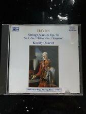 HAYDN: STRING QUARTETS OP 76 Nos 1-3: EMPEROR, FIFTHS – CD (1989) KODALY QUARTET