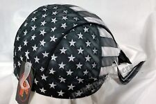 American Flag Stars & Stripes Grayed Design Biker Headwrap Doo Rag Durag Cap