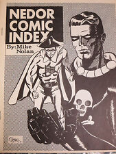Nedor Comic Index by Mike Nolan (1968) Ned Pines Black Terror Golden Age Comics