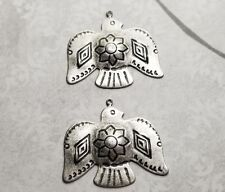 Oxidized Silver Southwest Thunderbird Charms (2) - SOSG4128R