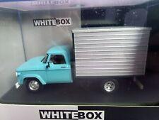 Dodge D-400 Box Van 1971 Bleu Maquette de Voiture 1 43 Whitebox