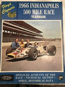1966 Indianapolis 500 Mile Indy Yearbook Autograph Johnny Rutherford And 3 More